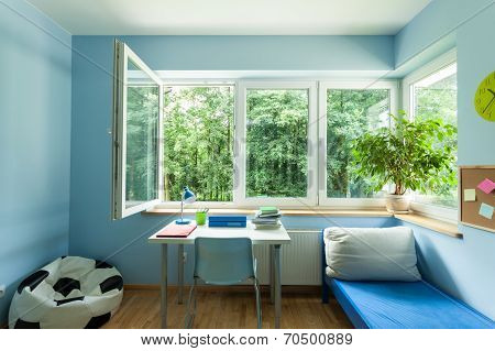Child Room With Open Window