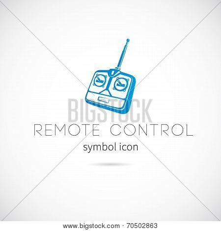 Remote Control Silhouette Vector Symbol Icon or Label