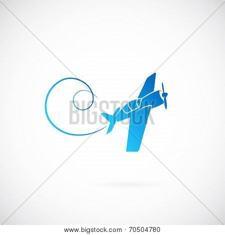 Airplane vector symbol icon