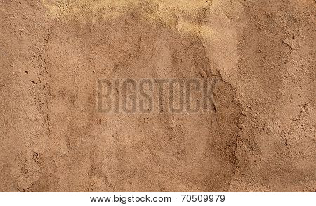 Texture Of Wall Covered Yellow Stucco