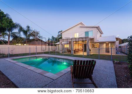 Modern Backyard With Pool