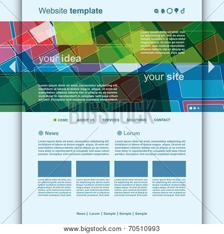 Website Template  Abstract Header Design vector
