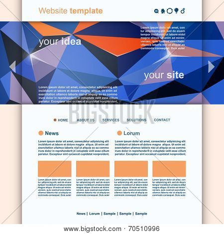 Abstract Website Design Header vector