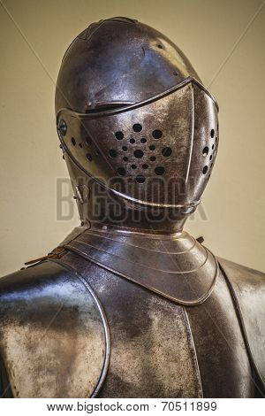 honor, medieval armor made of wrought iron