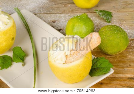 Homemade Lemon Sorbet
