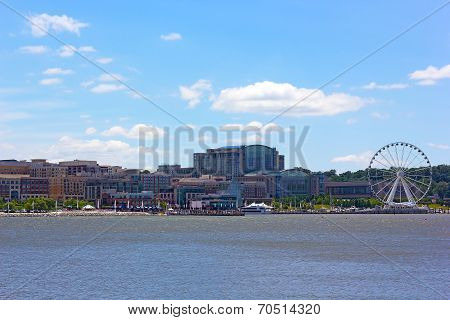 National Harbor photographed from Woodrow Wilson Bridge.