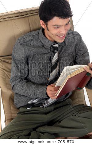Asian Man Sofa Book