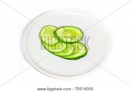 Sliced ??cucumber