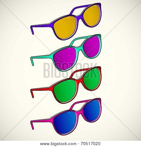 Retro sun glasses summer, plastic, lens, color, stylish, optical, accessory