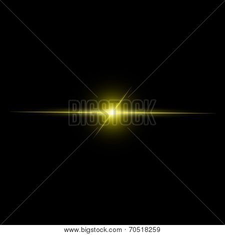 Abstract Yellow Beam Light Vector