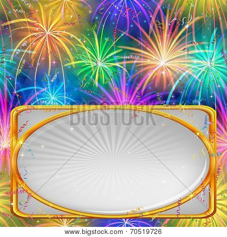 Firework, holiday background