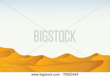 Illustration of a scene of a desert