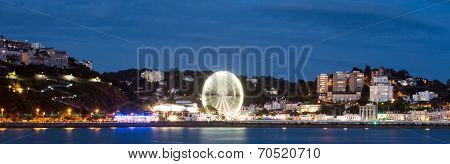 Torquay promenade at night