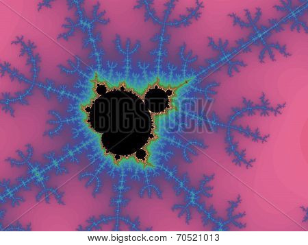 Decorative fractal background in a purple colors