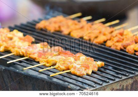 Pork Barbecue In Thailand