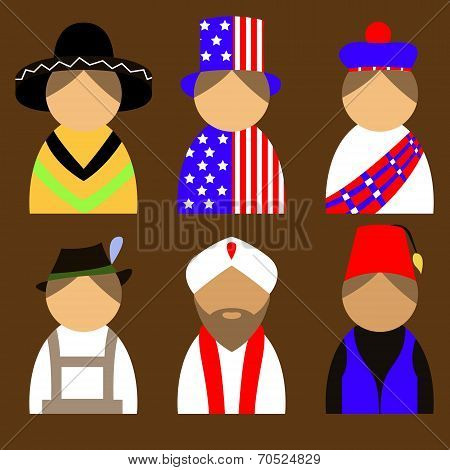 People in national costumes