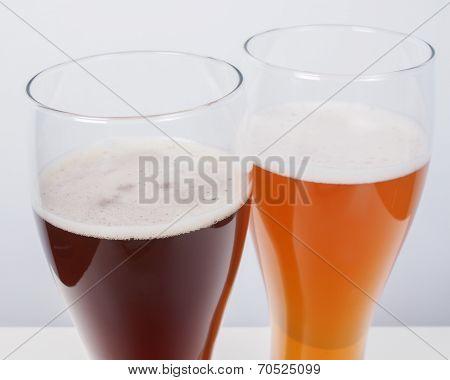 Two Glasses Of German Beer