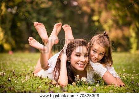 Mother and child in nature