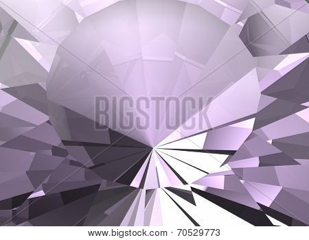 Background of jewelry gemstone. Facet. Amethyst