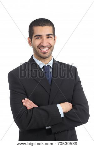 Arab Businessman Posing Standing With Folded Arms