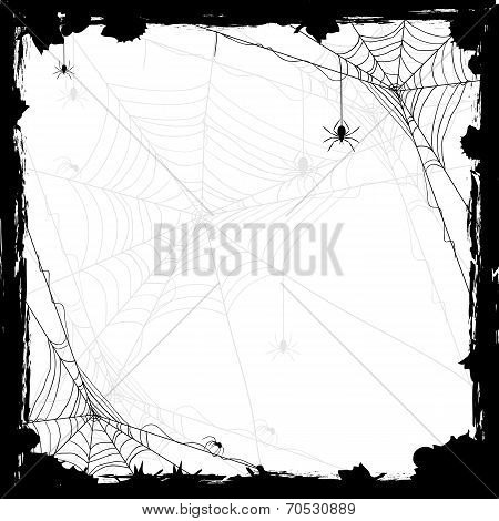 Halloween Background With Spiders