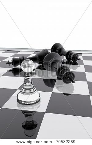 Chess Pawn Victory Over The Kings