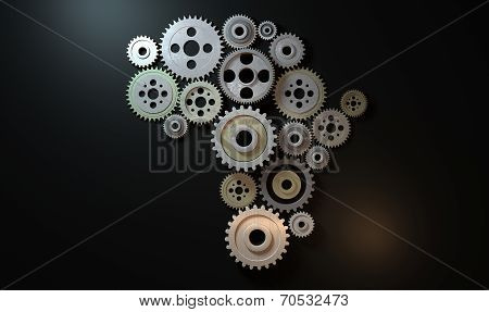 African Cogwheel Machine