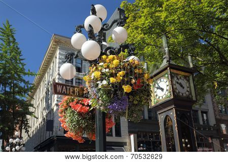 Water Street Flower Baskets, Gastown Vancouver