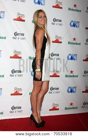 LOS ANGELES - AUG 21:  Lindsay Arnold at the OK! TV Awards Party at Sofiitel L.A. on August 21, 2014 in West Hollywood, CA