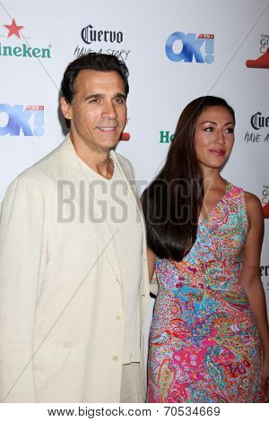 LOS ANGELES - AUG 21:  Adrian Paul at the OK! TV Awards Party at Sofiitel L.A. on August 21, 2014 in West Hollywood, CA