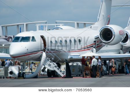Gulfstream Business Jet At Singapore Airshow