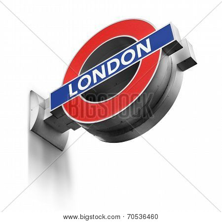 London Underground Sign Isolated