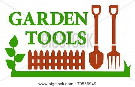 Landscaping Icon With Garden Tools