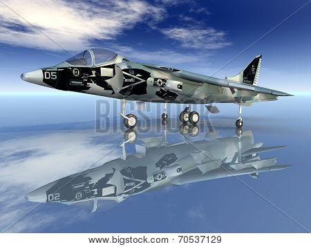 Harrier Combat Aircraft