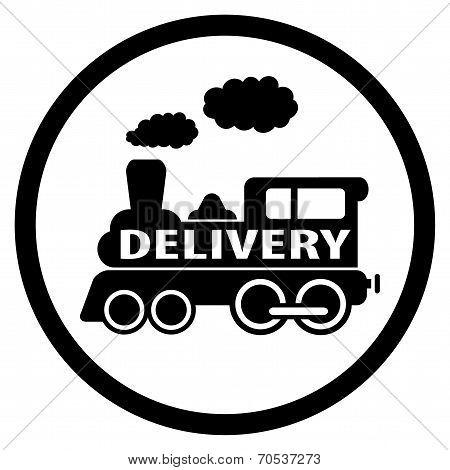 Moving Train Icon - Delivery Symbol