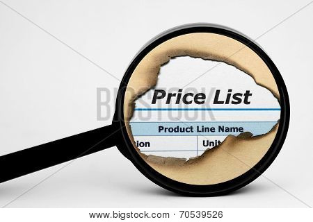 Price List Search