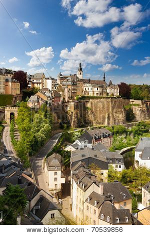 View from top of beautiful Luxemburg city