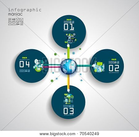 Flat Style Infographic UI Icons to use for your business project, marketing promotion, mobile advertising,seo, research and analytics.
