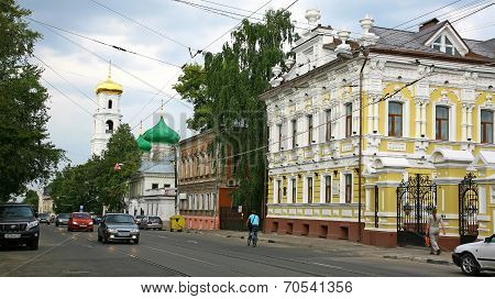 Old Historic Street In Nizhny Novgorod