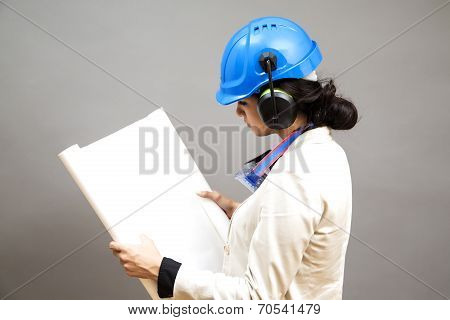 Young Woman In Protective Workwear