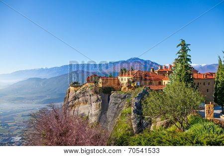 Vivid picture of Holy Varlaam Monastery