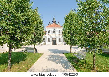 Pazaislis monastery and church in Kaunas, Lithuania