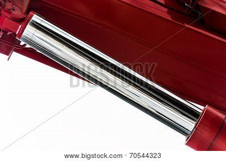 Master hydraulic cylinder closeup