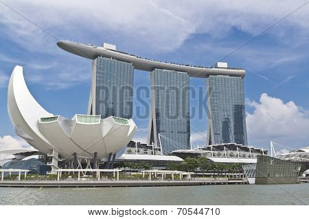 Singapore City View At Artscience Museum And Marina Bay Sands