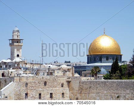 Jerusalem Ghawanima Minaret And Rock Mosque 2010