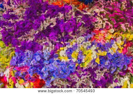 Abstract Impressionist Art Work