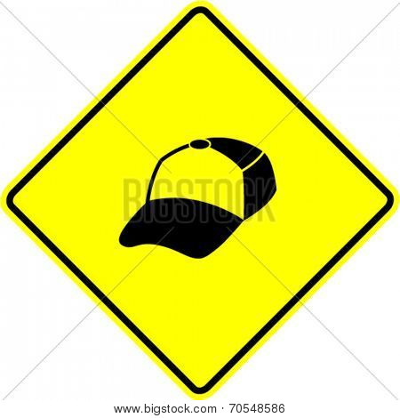 trucker cap sign