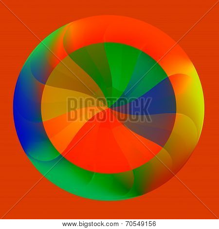 Colorful Round Abstract Isolated Button - Wheel