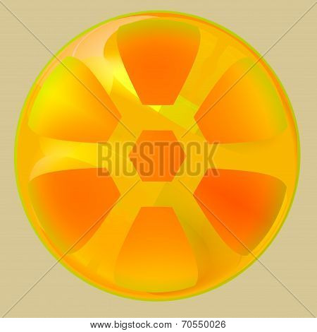 Orange Abstract Art Design - Creative Wheel