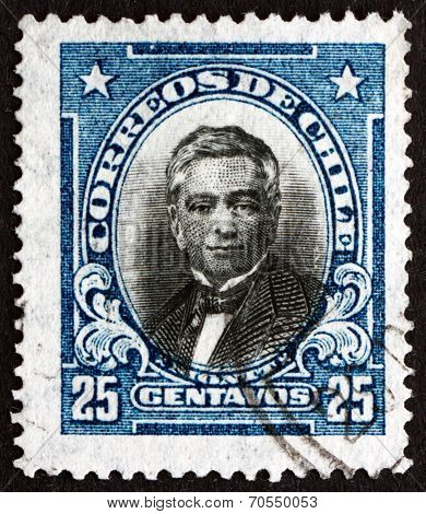 Postage Stamp Chile 1929 Manuel Montt, Chilean Politician